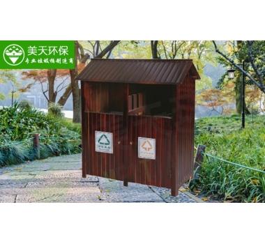 景区防腐木垃圾桶