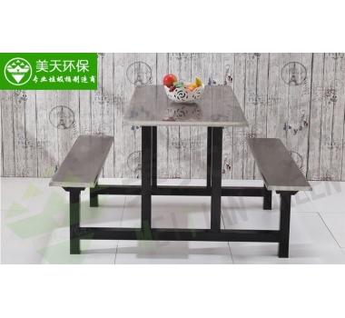 食堂四人位条凳餐桌椅