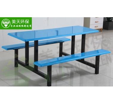 食堂六人位条凳餐桌椅