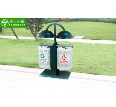 圆形分类钢板垃圾桶