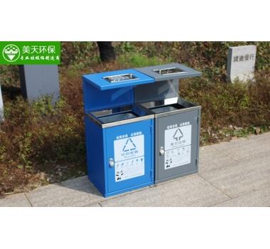 广场分类垃圾桶