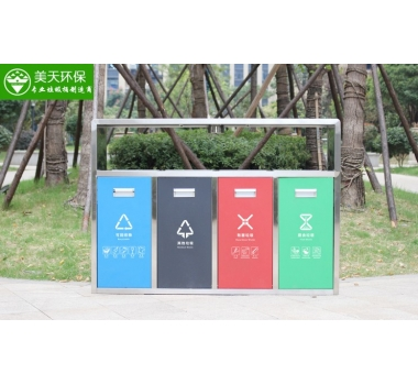 景区不锈钢多分类垃圾桶